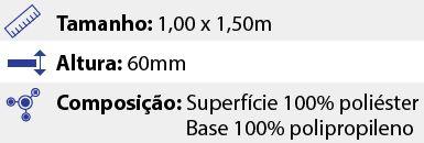 Tapete Premium Sortido - 1,00 x 1,50m - Marrom