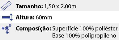 Tapete Premium Sortido - 1,50 x 2,00m - Marrom Claro