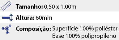 Tapete Premium Sortido - 0,50 x 1,00m - Bege
