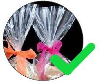 plástico transparente para presentes