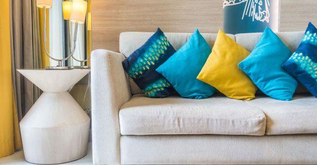 capas de almofada coloridas