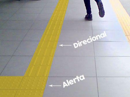 piso tátil alerta e direcional