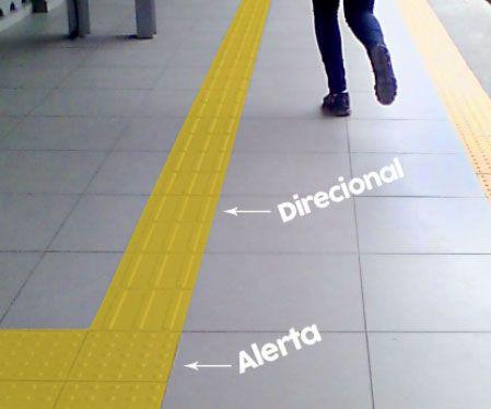 diferença entre piso tátil e piso alerta