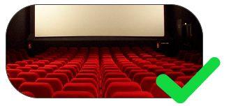 piso tátil para cinemas