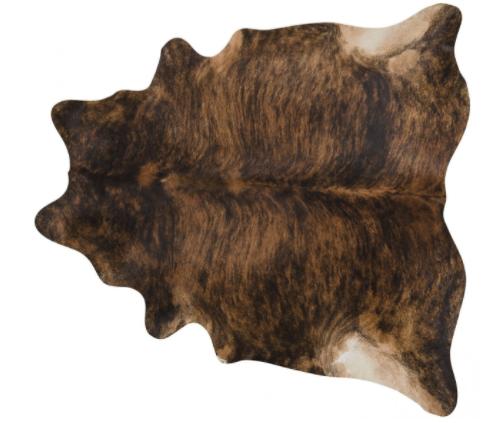 tapete de couro de boi marrom